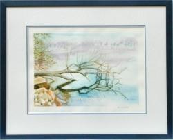 Lac de Guerlédan - Aquarelle - 45x55