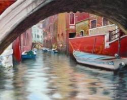Venise - Technique mixte - 50x40