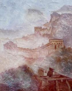 Grande muraille - Huile - 60x50