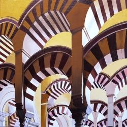 Mosquée de Cordoue - Huile - 50x50