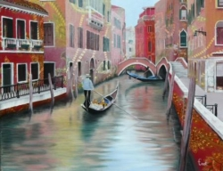 Venise - Technique mixte - 50x40