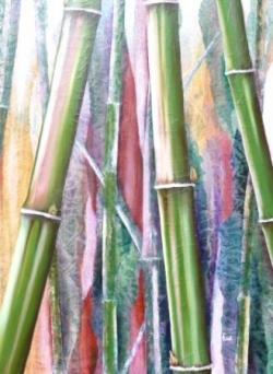 Bambous roses de l'Himalaya - Technique mixte - 74