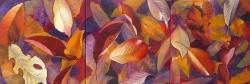 Feuilles mortes - Technique mixte - 150x50