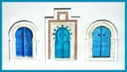 Portes de Sidi-Bou-Saïd - Aquarelle - 70x41