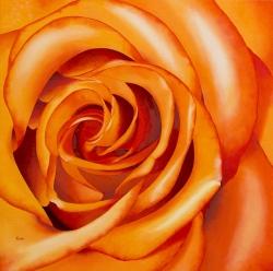 Rose - Huile - 50x50