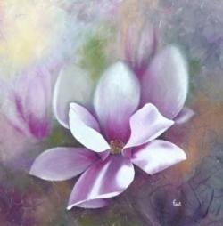 Magnolia - Huile - 40x40