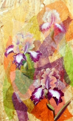 Iris - Technique mixte - 66x45