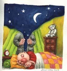 Le marchand de nuit s'est glissé dans la chambre