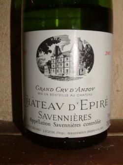 SAVENNIERES CHATEAU D'EPIRE 2002