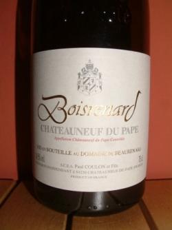 BOISRENARD 2005 DU DOMAINE DE BEAURENARD