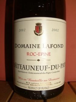 ROC EPINE 2002 DU DOMAINE LAFFOND