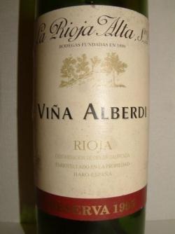 RIOJA ALTA VINA ALBERDI RIOJA 1995