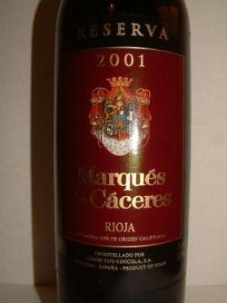 MARQUES DE CACERES 2001 RIOJA RESERVA