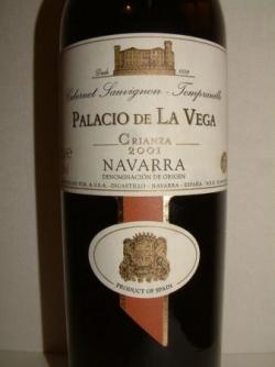 PALACIO DE LA VEGA CRIANZA 2001 (NAVARRE)