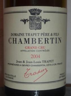 CHAMBERTIN GRAND CRU 2004 TRAPET