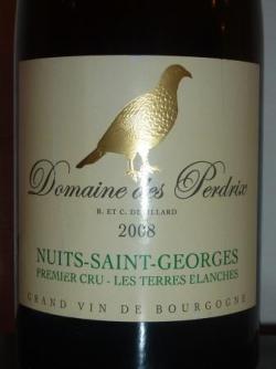 Nuit Saint Georges Domaine des Perdrix 2008