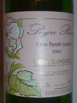 SYRAH LEONE PEYRE ROSE 2002