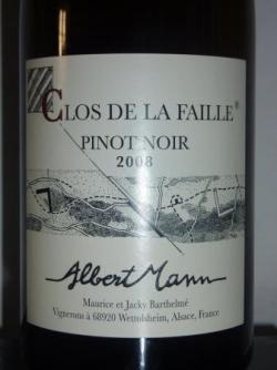 Clos de la Faille 2008 d'Albert Mann