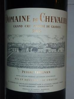 PESSAC LEOGNAN DOMAINE CHEVALIER 2004