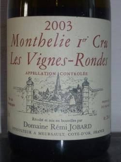 Monthélie 1er cru 2003 Remi Jobard