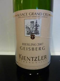 Riesling Geisberg 2007 de Kientzler