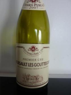 Meursault Les Gouttes d'Or 2007 de Bouchard