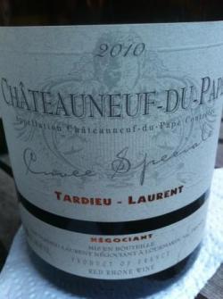 Chateauneuf Cuvée Speciale 2010 Tardieu-Laurent