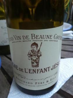 La vigne de l'enfant Jesus 2009 de Bouchard