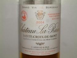 SAINT CROIX DU MONT CHATEAU LA RAME 2004