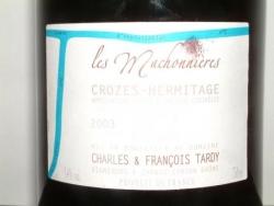 CROZES HERMITAGE LES MACHONNIERES 2003 DE CHARLES