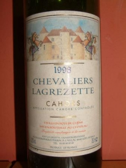 VIN PIRATE : CAHORS CHEVALIERS LAGREZETTE 1998