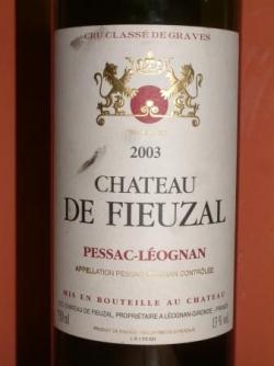 CHATEAU DE FIEUZAL 2003