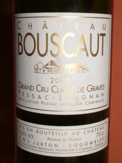 CHATEAU BOUSCAUT 2003