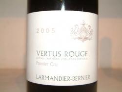 COTEAUX CHAMPENOIS VERTUS ROUGE 2005 DE LARMANDIER