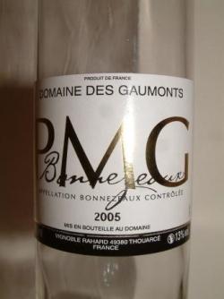 BONNEZEAUX PMG 2005 DOMAINE DES GAUMONTS