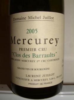 MERCUREY 1ER CRU CLOS DES BARRAULTS DE LAURENT JUI