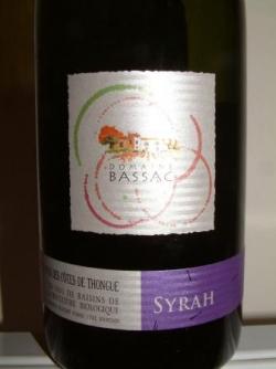 SYRAH 2006 DES CHEMINS DE BASSAC