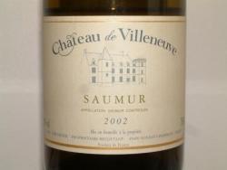 SAUMUR CHATEAU DE VILLENEUVE 2002