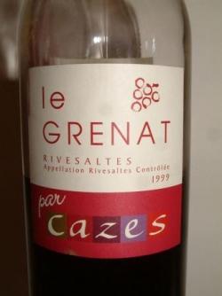 RIVESALTES LE GRENAT 99 DE CHEZ CAZES