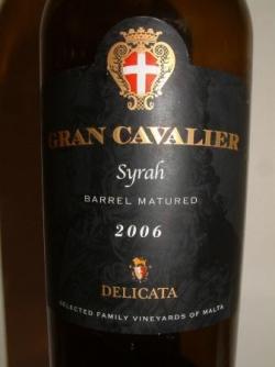 GRAN CAVALIER SYRAH 2006 DE DELICATA (MALTE)