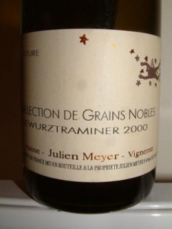 GEWURZTRAMINER GRAINS NOBLES 2002 DE JULIEN MEYER