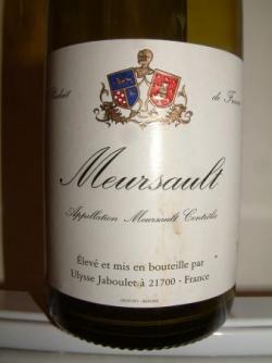 MEURSAULT 2001 DE ULYSSE JABOULET