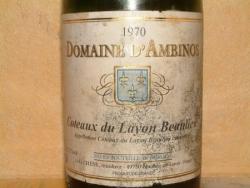 COTEAUX DU LAYON DOMAINE D'AMBINOS 1970