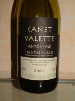 CANET VALETTE ANTONYME 2006 SAINT CHINIAN