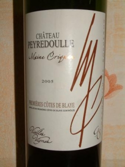 CHATEAU DE PEYREDOUILLE 2005 COTES DE BLAYE