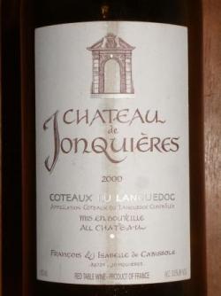 COTEAUX DU LANGUEDOC CHATEAU DE JONQUIERES 2000