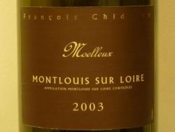 MONTLOUIS MOELLEUX 2003 DE CHEZ CHIDAINE