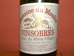 VINSOBRES BLANC DOMAINE DU MOULIN 2004