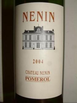 CHATEAU NENIN 2004