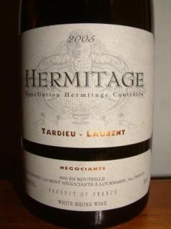 HERMITAGE BLANC 2005 DE TARDIEU LAURENT